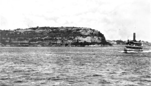 'Ferry passing Balls Head' 1920 Source: Stanton Library Historical Services